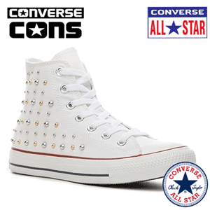 Bascheti cu tinte Converse Studded High-Top Sneaker Womens