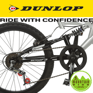 Bicicleta Mountain Bike suspensie dubla Dunlop DS20