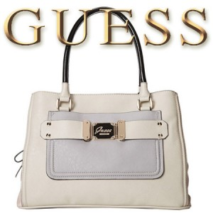 GUESS Drama Queen Girlfriend Geanta Satchel Chalk