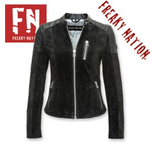 Geaca de Piele Dama Freaky Nation Neagra Friday Night
