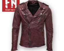 Modele de Geci Din piele Slim Fit Biker Freaky Nation Barbatesti