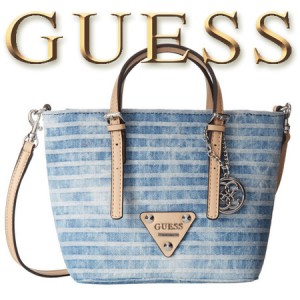 Geanta GUESS Delaney Petite Tote Blue