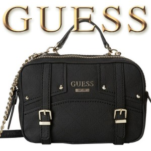 Geanta GUESS Rikki Crossbody Camera Bag neagra