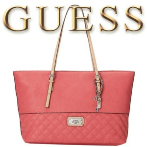 Geanta TOTE GUESS Jinha Medium Classic Passion rosie