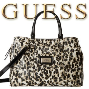 Geanta animal print GUESS Jizelle Girlfriend Satchel
