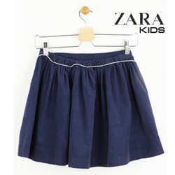 Fusta Zara Kids din bumbac Simple Dark Blue