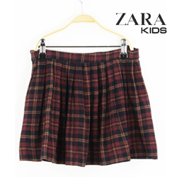 Fusta fete Zara Kids Simette Dark Red