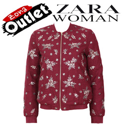Geaca dama Zara Filter Dark Red