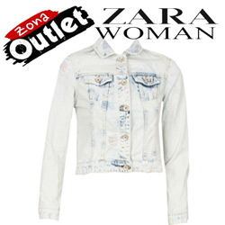 Geaca jeans Zara Woman Simo Light Blu