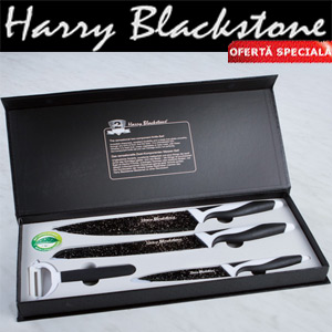 Set cutite ceramice Harry Blackstone la Mediashop
