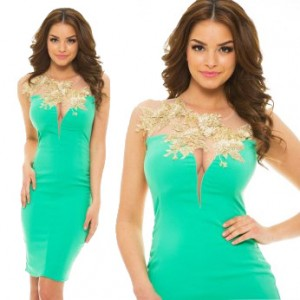 Rochie LaDonna Bright Lounge Green - mini verde