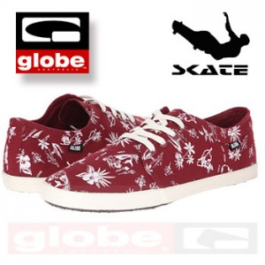 Tenisi din panza Moda Skate Globe Red Belly