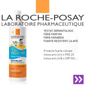 Spray protectie solara La Roche Posay Anthelios XL SPF50+ 200ml