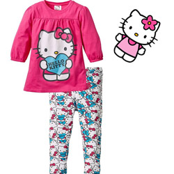 Bluza lunga pantaloni leggings fetite Hello Kitty