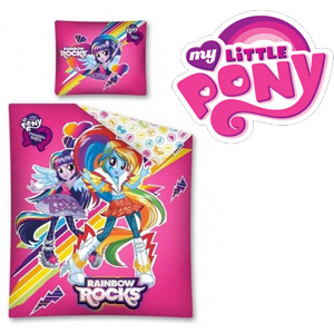 Lenjerie de pat My Little Pony - Equestria Girls Rainbow Friends 160 x 200 cm