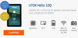 Review Tableta UTOK Hello 3G GSM 10Q