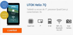 Review Tableta UTOK Hello 3G GSM 7Q