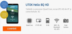 Review Tableta UTOK Hello 3G GSM 8Q HD
