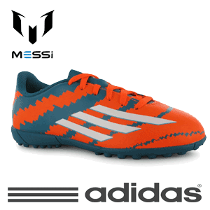 Ghete fotbal copii Adidas F50 Messi 10.4 Infant Boys Astro Turf Trainers