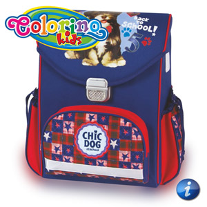 Ghiozdan anatomic scolari Colorino Catel Chic Dog