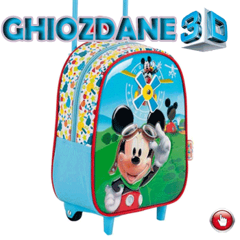 Ghiozdan cu troler Junior Mickey Mouse