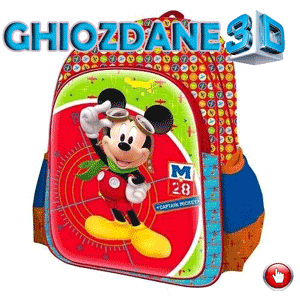 Ghiozdan mare 3D Disney Mickey Mouse