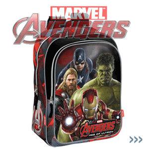 Ghiozdan scoala cls 1 4 Marvel Avengers Age of Ultron baieti