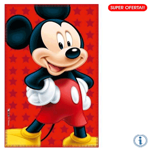 Paturica copii Disney Mickey Mouse 100 x 150 cm