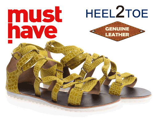 Must Have Leather Heel to Toe Sandals Clearance on Amazon