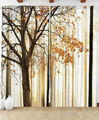 Draperie 3D Autumn Tree Orange Venue
