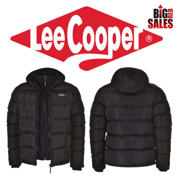 Geci de iarna barbati Lee Cooper Two Zip Bubble Mens Jacket
