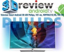 Pret redus cu 1100 RON la Smart TV Android 3D LED Philips 40PFH6510/88 Full HD