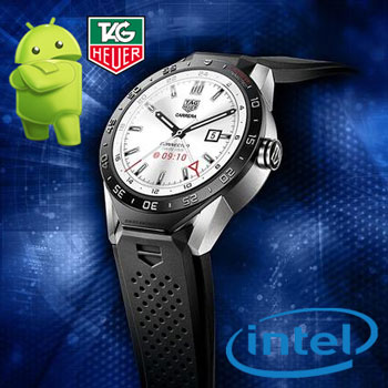 Ceasul smart TAG Heuer Connected Intel cu Android Wear de 1350 de euro