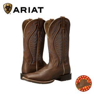 Cizme din piele stil Western Ariat Rodeo Warrior