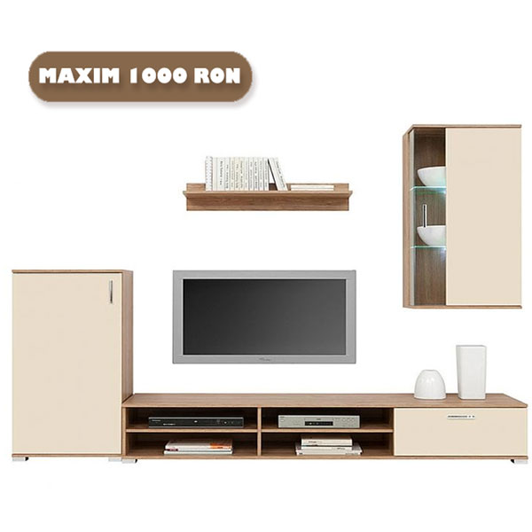 Set Mobila Living Winter Nuc Salev Vanilie