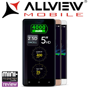 Review Pareri si Preturi Smartphone Allview P8 Energy Mini 5 inch White Gray Gold