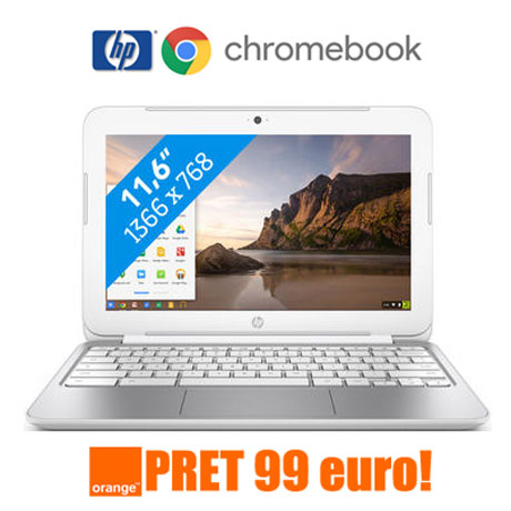 Cel mai mic pret Laptop Hp Chromebook in Oferta Orange 99 EUR