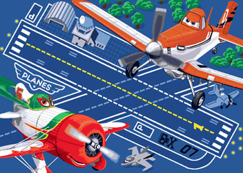 Covor camera copii Disney Planes - Airborn, 95 x 133 cm