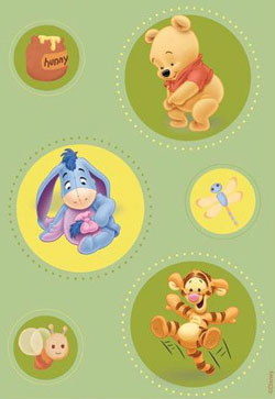 Disney Baby - Covor Green Pooh Model 403 160x230 cm