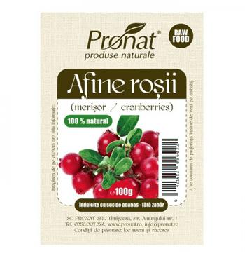 Afinele rosii, uscate, naturale, 100% bio naturale. Merisorul, fara zahar.