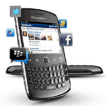 BlackBerry Curve 9360 permite conectarea la Twitter Facebook, mailuri pop3 si imap3 de la google si yahoo prin setari manuale.