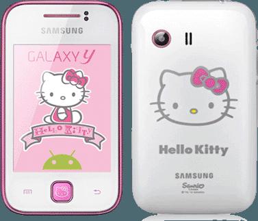 Samsung S5360 Galaxy Y, Pure White Hello Kitty
