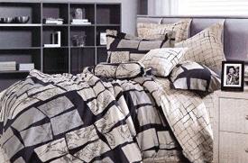 Lenjerii de pat pentru 2 persoane din bumbac 100% si satin