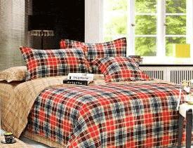Lenjerie de pat din satin bumbac pentru 2 persoane