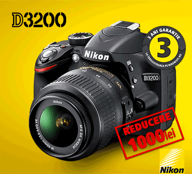 Nikon D3200 – DSLR la super pret