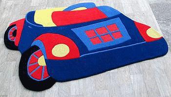 Covoare pentru dormitorul copiilor - masinuta - covoare din lana lucrate manual