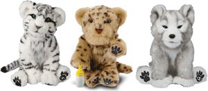 Animalute interactive - pui de tigru, leopard sau catel Husky