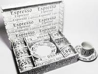 Set cescute pentru cafea model ziar