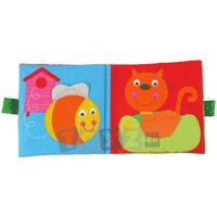 Carticica de jucarie din material textil pentru nou nascuti