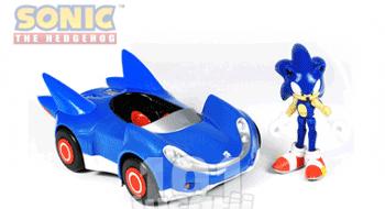 Masinuta de jucarie cu figurina Sonic Ariciul